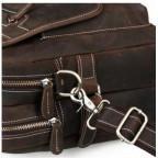 Кожаная сумка TIDING BAG T29523 коричневая - Фото № 108
