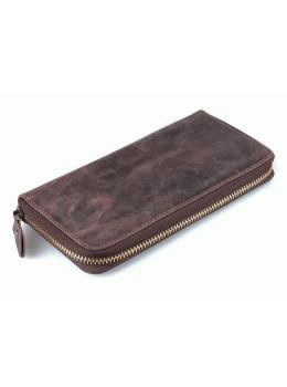 Кожаный клатч TIDING BAG T4007 коричневый
