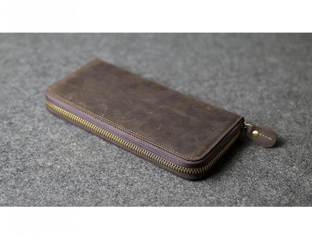 Кожаный клатч TIDING BAG T4007 коричневый - Фото № 6