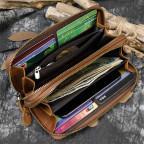 Винтажный клатч TIDING BAG T4009R коричневый - Фото № 101