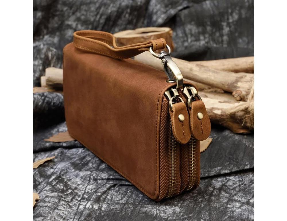 Вінтажний клатч TIDING BAG T4009R коричневий