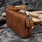 Винтажный клатч TIDING BAG T4009R коричневый - Фото № 100