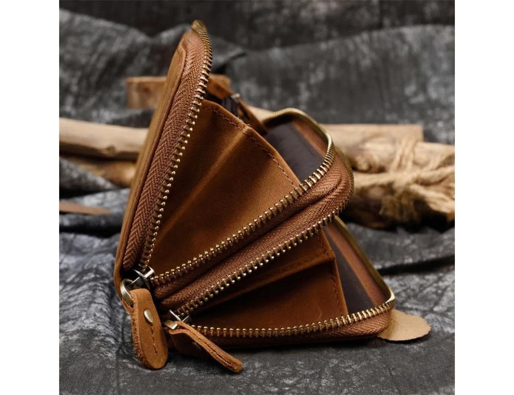Винтажный клатч TIDING BAG T4009R коричневый - Фото № 3
