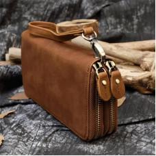 Винтажный клатч TIDING BAG T4009R коричневый