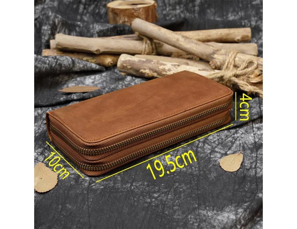 Винтажный клатч TIDING BAG T4009R коричневый - Фото № 4