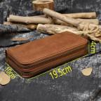 Винтажный клатч TIDING BAG T4009R коричневый - Фото № 103
