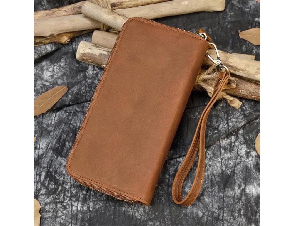 Винтажный клатч TIDING BAG T4009R коричневый - Фото № 6