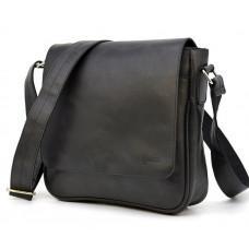 Чёрная кожаная сумка через плечо TARWA TA-0002-3md