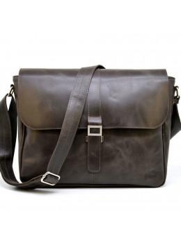 Коричневая кожаная сумка через плечо Tarwa TC-1046-4lx