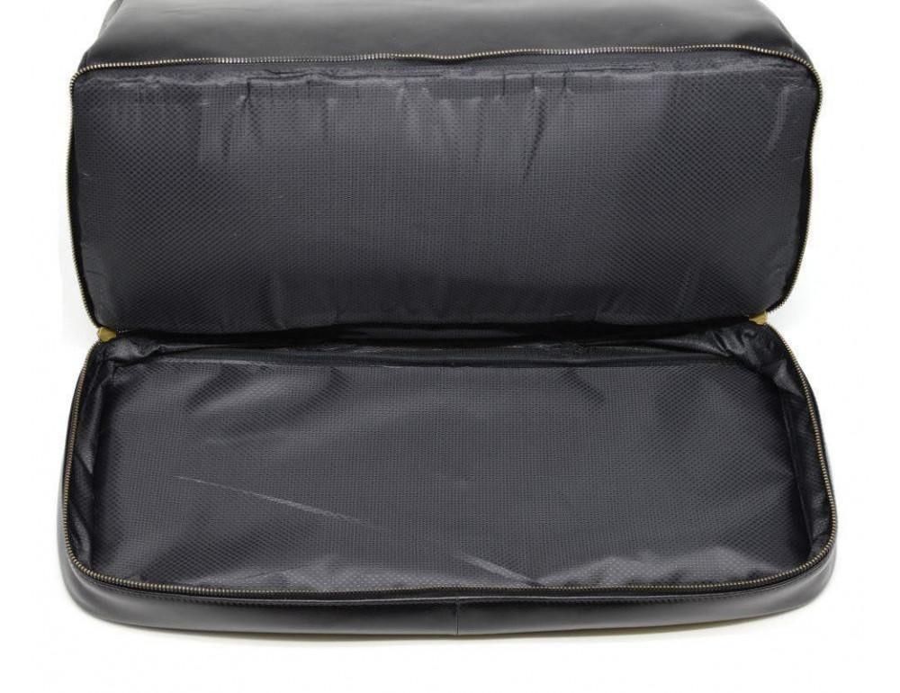 Чёрный кожаный саквояж с двойным дном TARWA TA-1185-4lx - Фото № 6