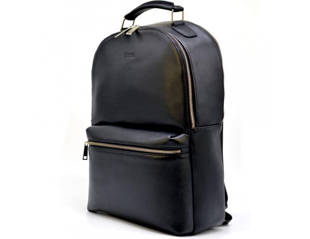 Чёрный кожаный рюкзак TARWA TA-4445-4lx
