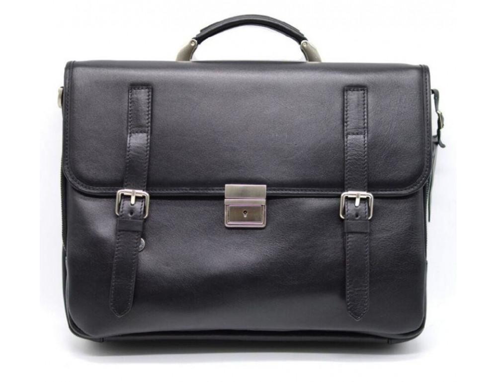 Чорний чоловічий портфель з гладкої шкіри TARWA TA-4464-4lx - Фотографія № 1