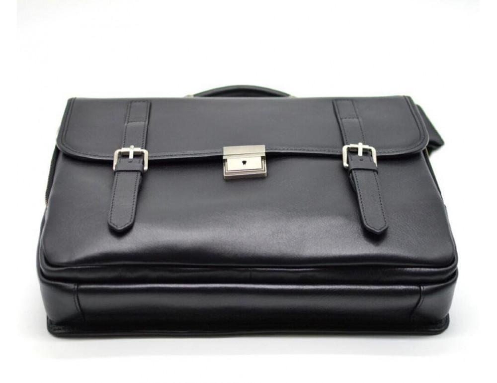 Чорний чоловічий портфель з гладкої шкіри TARWA TA-4464-4lx - Фотографія № 3