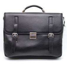 Чорний чоловічий портфель з гладкої шкіри TARWA TA-4464-4lx