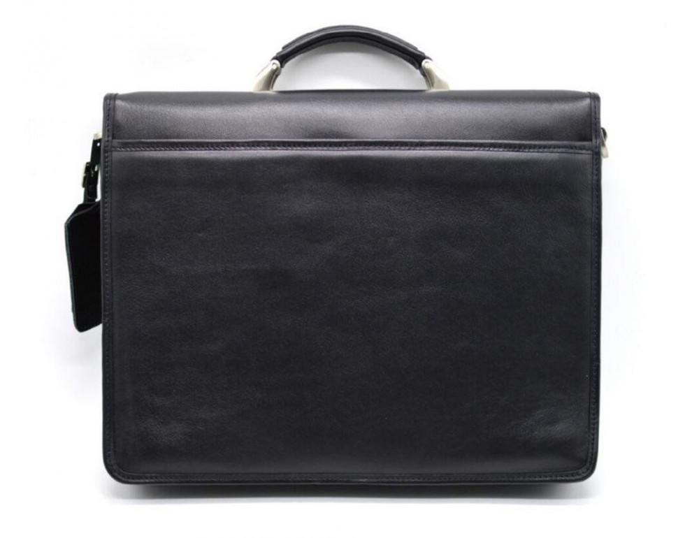 Чорний чоловічий портфель з гладкої шкіри TARWA TA-4464-4lx - Фотографія № 4