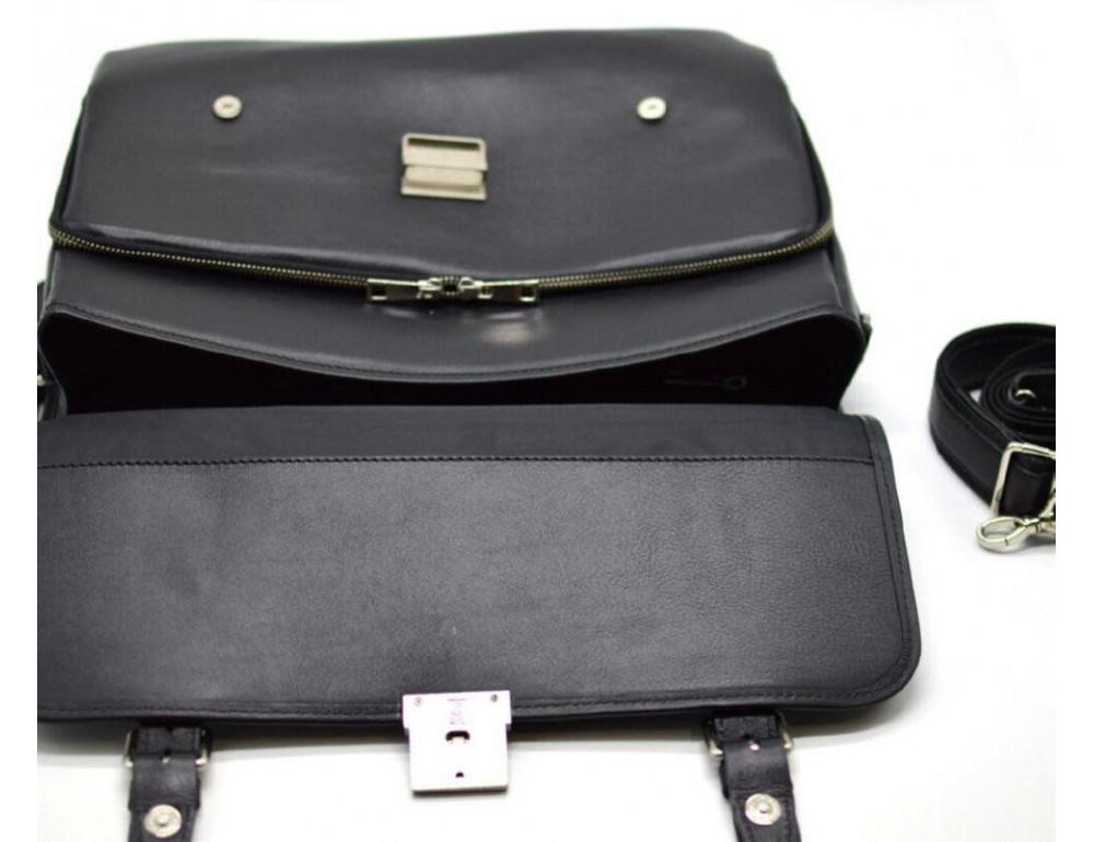 Чорний чоловічий портфель з гладкої шкіри TARWA TA-4464-4lx - Фотографія № 5
