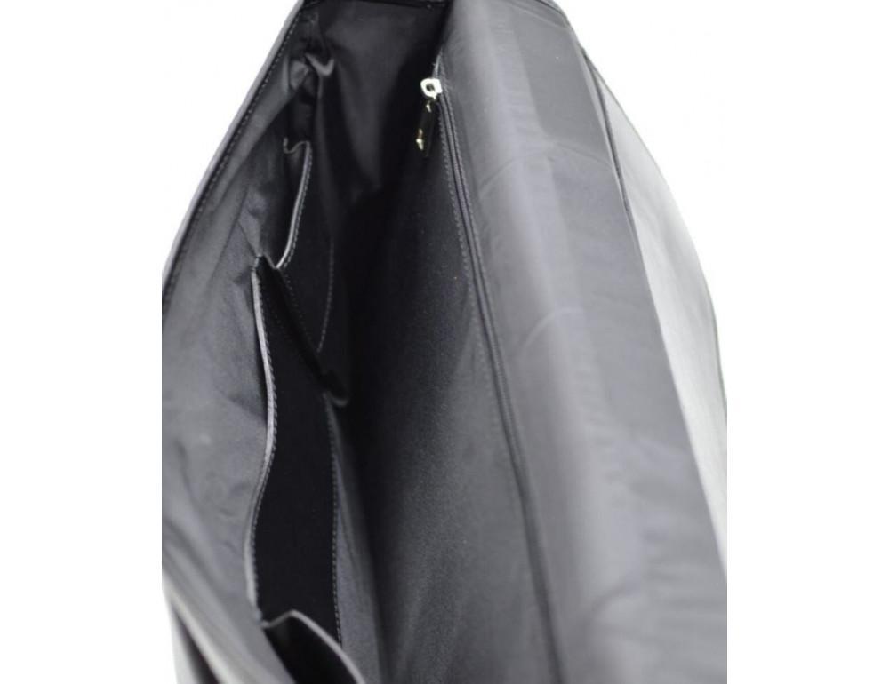 Чорний чоловічий портфель з гладкої шкіри TARWA TA-4464-4lx - Фотографія № 7