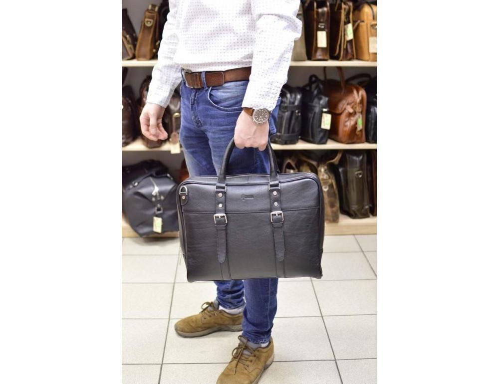 Чёрная деловая мужская сумка TARWA TA-4764-4lx - Фото № 2