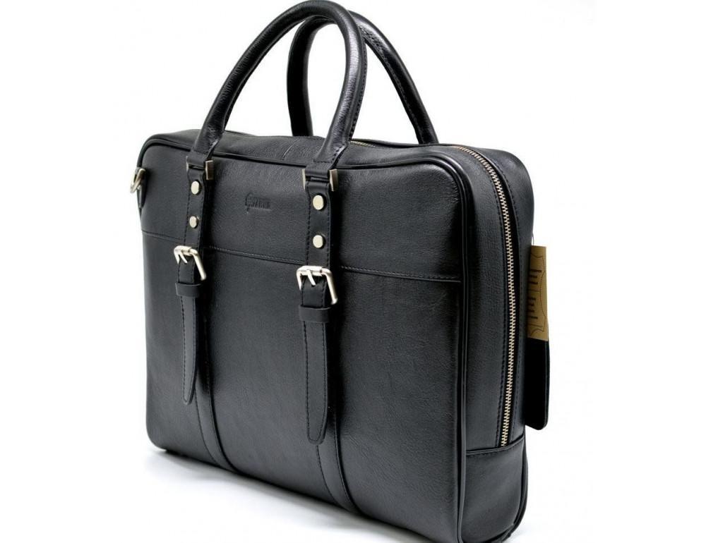 Чёрная деловая мужская сумка TARWA TA-4764-4lx