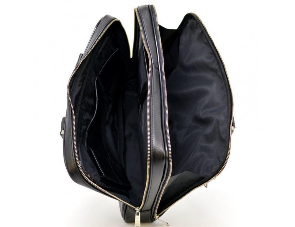 Мужской кожаный портфель TARWA TA-4766-4lx чёрный - Фото № 2