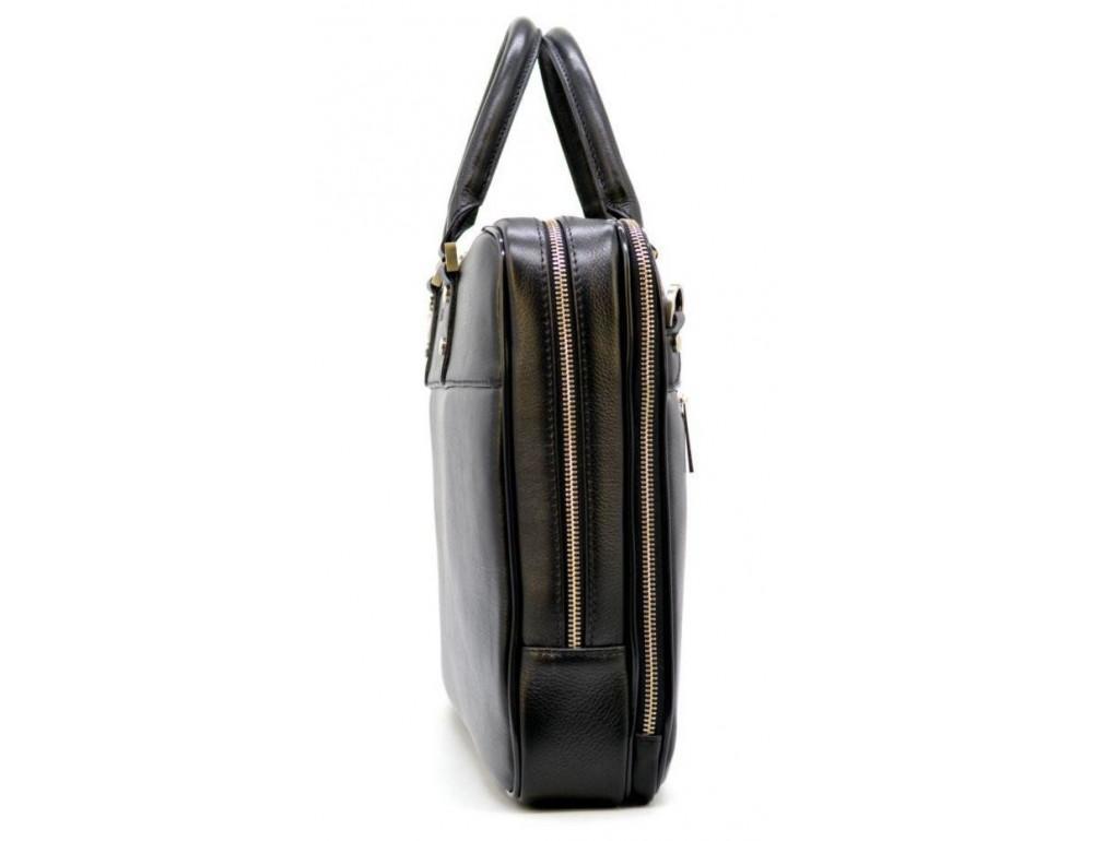 Мужской кожаный портфель TARWA TA-4766-4lx чёрный - Фото № 3