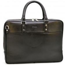 Мужской кожаный портфель TARWA TA-4766-4lx чёрный