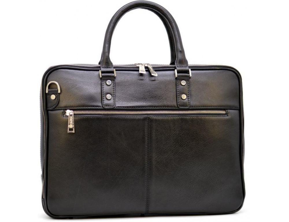 Мужской кожаный портфель TARWA TA-4766-4lx чёрный - Фото № 4