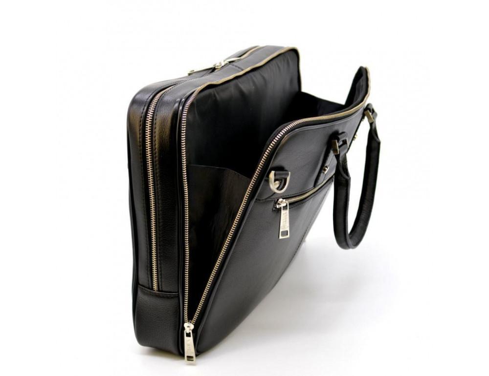 Мужской кожаный портфель TARWA TA-4766-4lx чёрный - Фото № 5