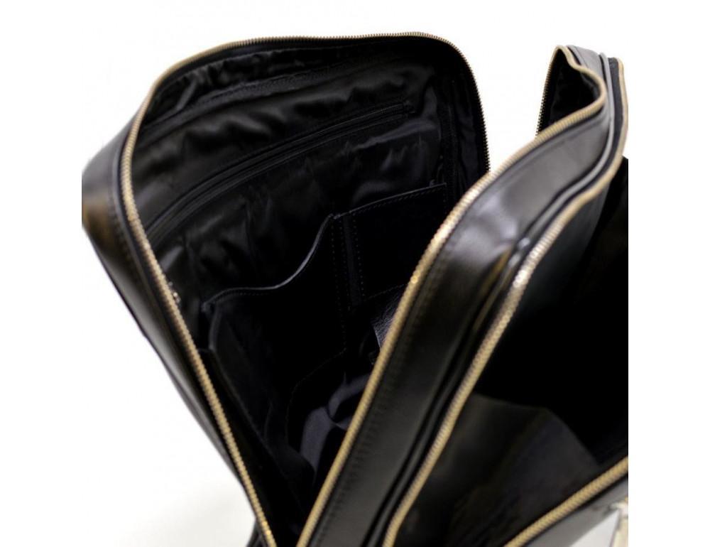 Мужской кожаный портфель TARWA TA-4766-4lx чёрный - Фото № 6
