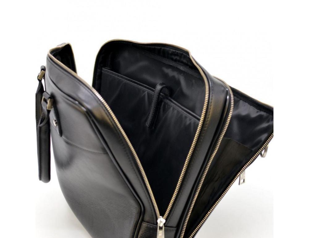 Мужской кожаный портфель TARWA TA-4766-4lx чёрный - Фото № 7
