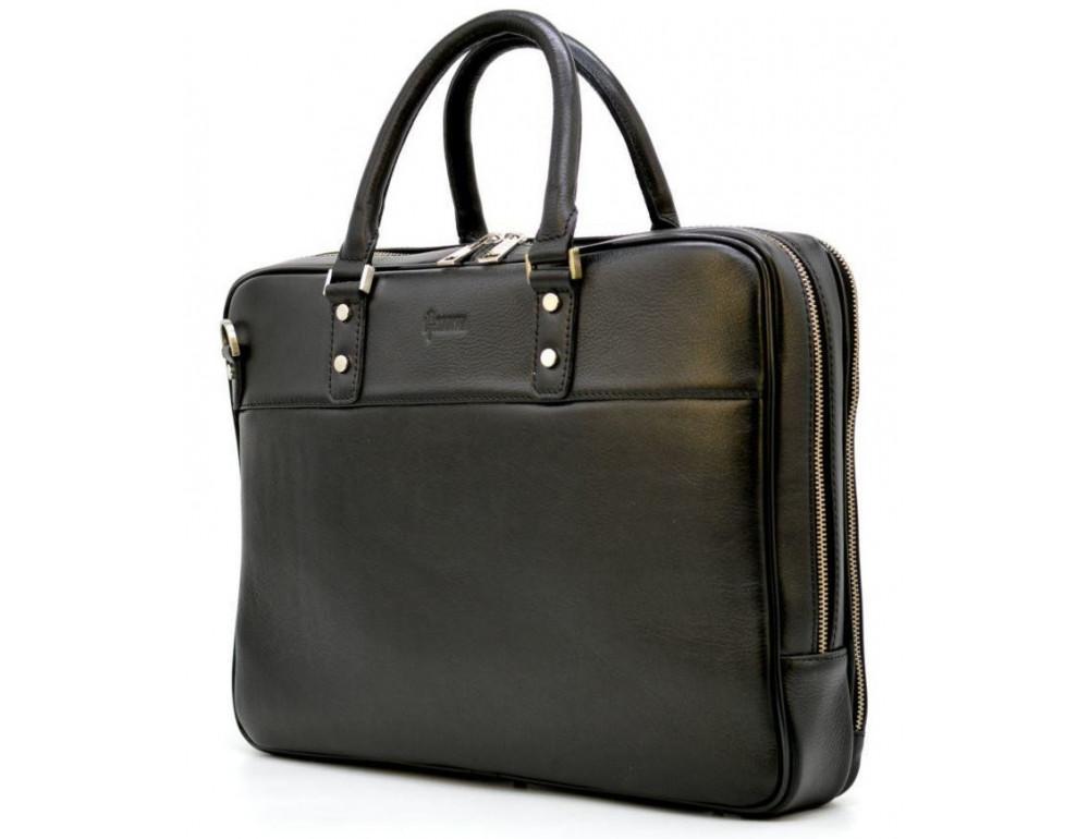 Мужской кожаный портфель TARWA TA-4766-4lx чёрный - Фото № 9