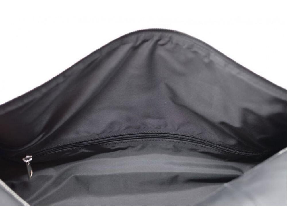 Чёрная дорожная сумка бочонкой из натуральной кожи TA-5564-4lx - Фото № 10