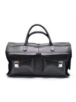 Чёрная дорожная сумка из телячьей кожи TARWA TA-5664-4lx