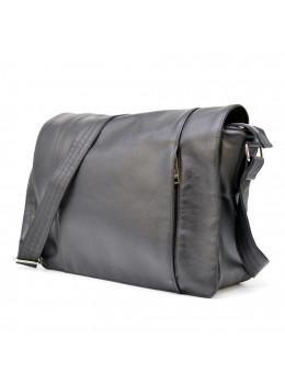 Чорна сумка на плече чоловіча з натуральної шкіри TARWA TA-7338-3md
