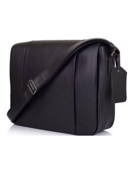 Чорна сумка на плече чоловіча з натуральної шкіри TARWA TA-7338-4lx