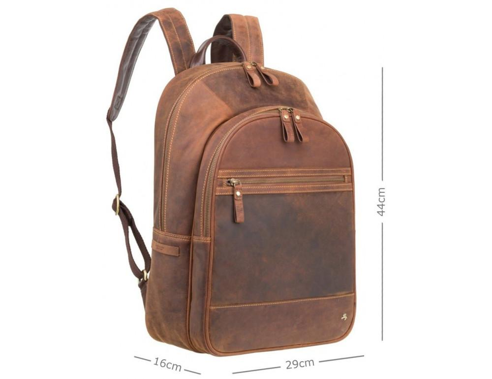 Коричневый кожаный рюкзак мужской Visconti TC80 TAN - Фото № 3
