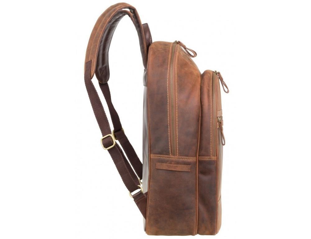 Коричневый кожаный рюкзак мужской Visconti TC80 TAN - Фото № 4