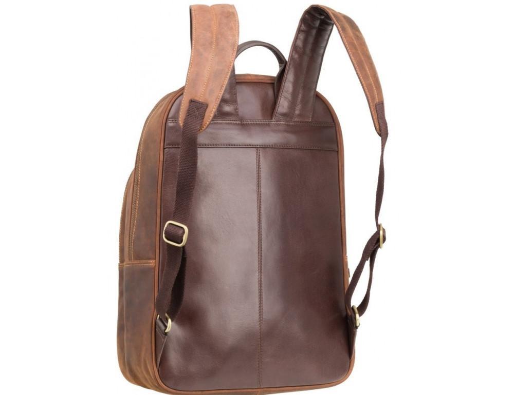 Коричневый кожаный рюкзак мужской Visconti TC80 TAN - Фото № 5