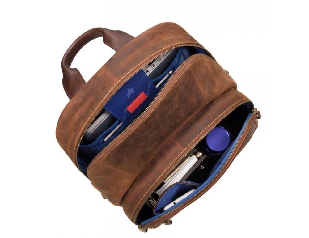 Коричневый кожаный рюкзак мужской Visconti TC80 TAN - Фото № 2