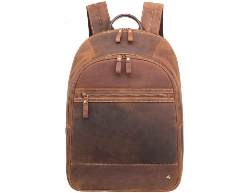 Коричневый кожаный рюкзак мужской Visconti TC80 TAN - Фото № 1