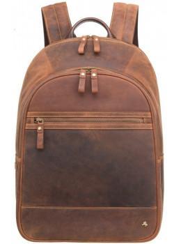 Коричневый кожаный рюкзак мужской Visconti TC80 TAN