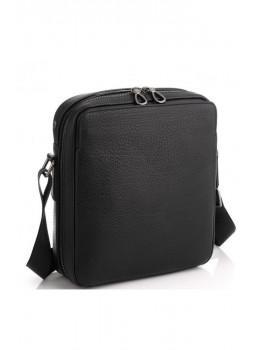 Чорна чоловіча сумка з зернистою шкіри Tavinchi S-006A