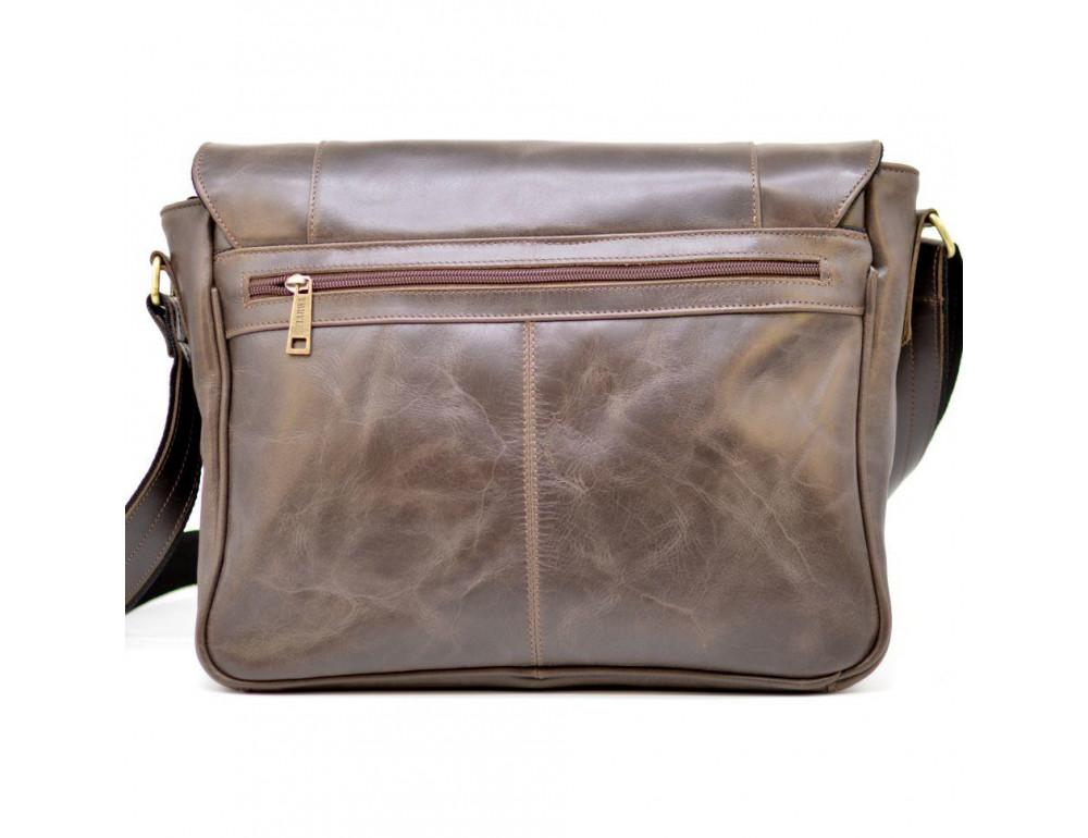Тёмно-коричневая сумка на плечо мужская из натуральной кожи TARWA GC-7338-3md - Фото № 2