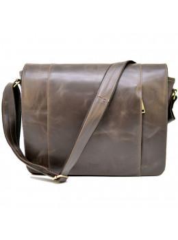 Темно-коричнева сумка на плече чоловіча з натуральної шкіри TARWA GC-7338-3md