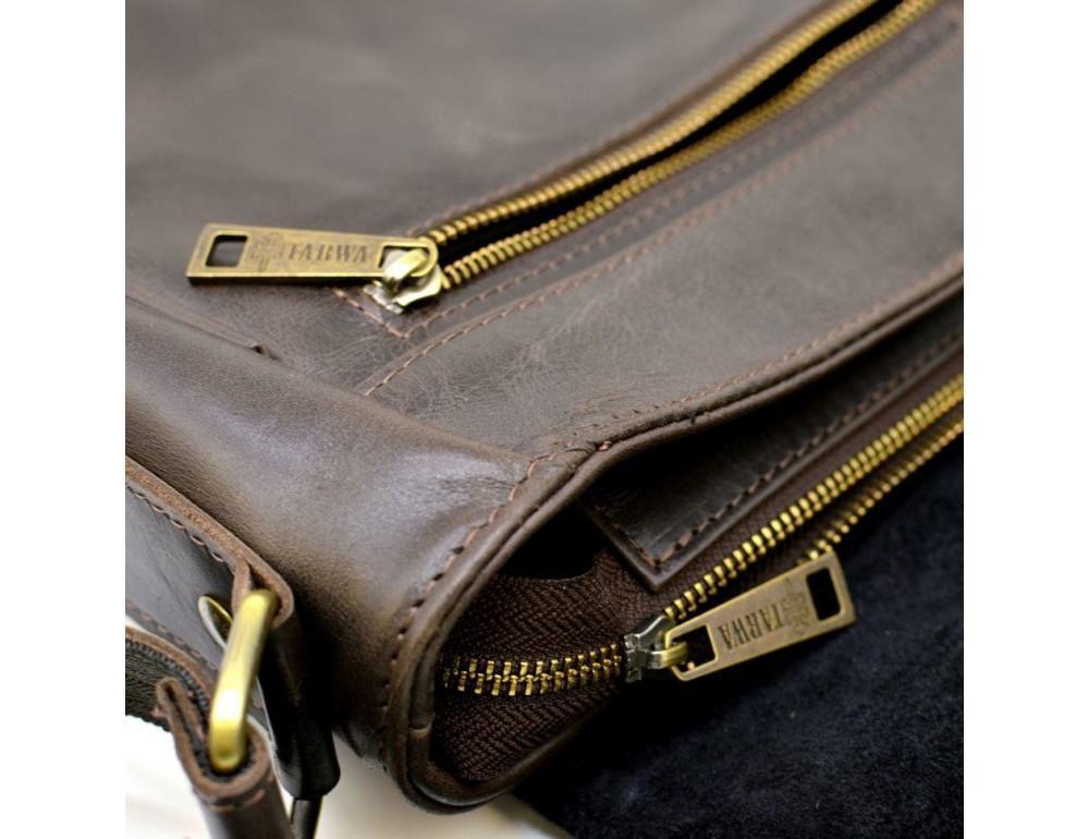 Коричневая вместительная сумка через плечо TARWA TC-1047-3md - Фото № 6