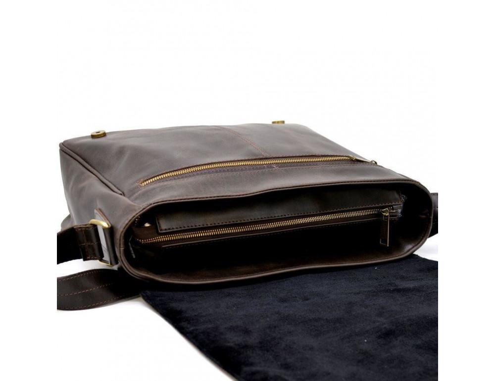 Коричневая вместительная сумка через плечо TARWA TC-1047-3md - Фото № 7