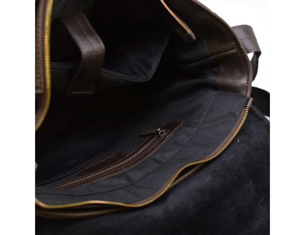 Коричневая вместительная сумка через плечо TARWA TC-1047-3md - Фото № 8