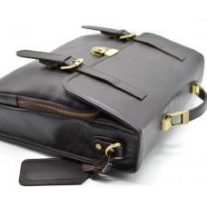 Коричневий шкіряний портфель чоловічий TARWA TC-4464-4lx