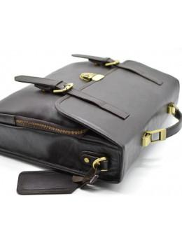 Коричневый кожаный портфель мужской TARWA TC-4464-4lx