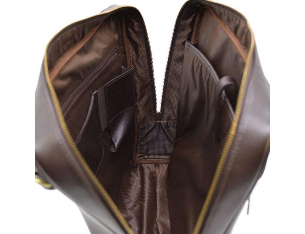 Коричневый кожаный портфель TARWA TC-4765-4lx - Фото № 2
